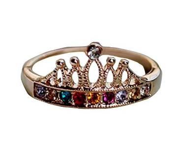 Ladies crown shaped finger ring
