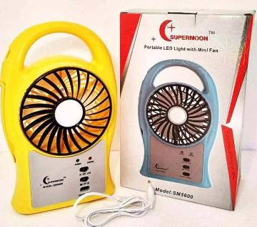 SUPERMON Portable mini fan with LED light