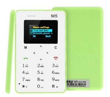AIEK M5 মিনি কার্ড মোবাইল ফোন1
