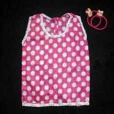 Pink Ball Print Cotton Nima