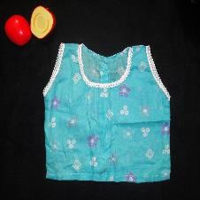 Blue Batik Print Cotton Nima