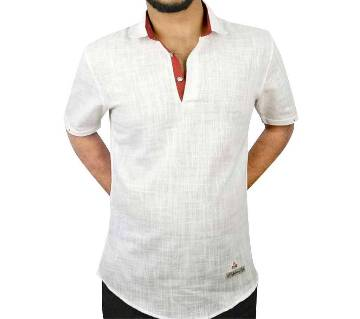 Half Sleeve Slope Cotton Casual Shirt for Men