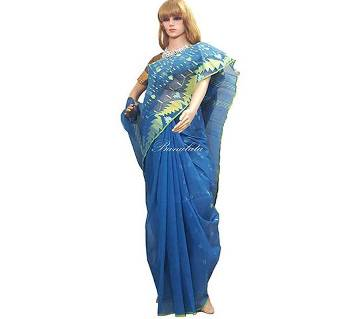 Dhakai Jamdani Half Silk Saree