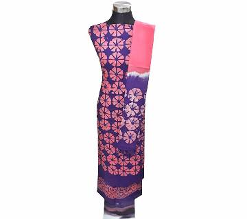 Unstitched Batik Three Piece