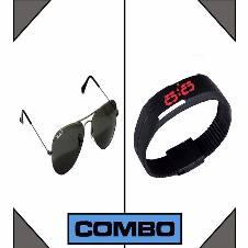 LED Watch  RayBan Sun glass Combo (Copy)