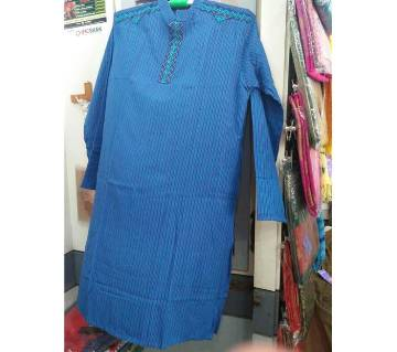 Cotton punajbi with embroidery punjabi