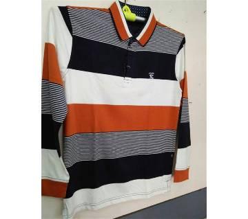 Mens Fulll Sleeve Polo Shirt (EASY Orginal stripe)