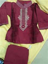 Kids silk panjabi with payjama