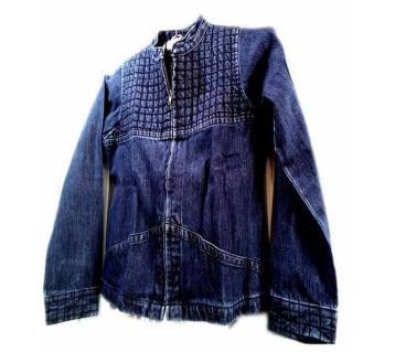 China Denim Navy Blue Ladies Jacket