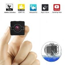 SQ12 মিনি একশন স্পোর্টস ক্যামেরা 1080P HD Camcorder Night Vision 155 Degree Waterproof FOV Car DVR Dash Spy Camera -Black