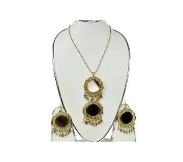 Gold Plated Mirror Jewellery Set
