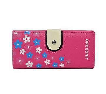 Womens RFID Blocking Wallet Trifold Ladies Luxury Leather Clutch Travel Purse-Pink