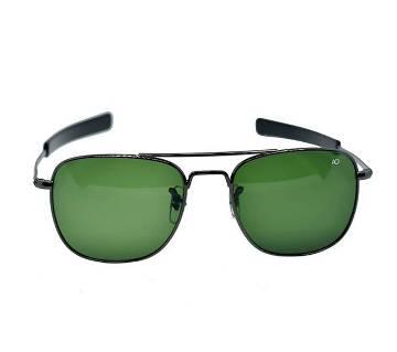Black Metal Frame Green Shade Original AO Sunglass for Men