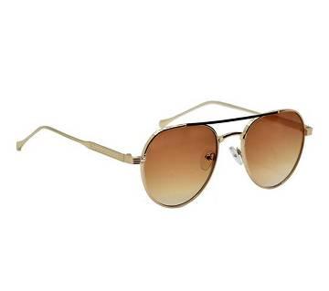 Golden Steel Frame Brown Shade Sunglass for Men
