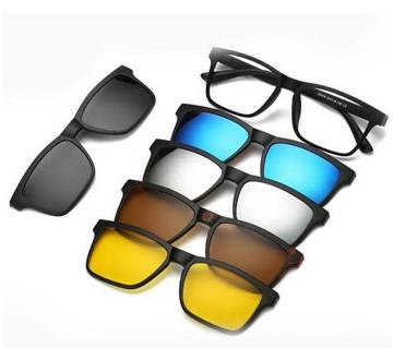 6 in 1 Polarized Magnetic Sunglass