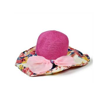 Multi - Color Mixced Fabric Hat for Women