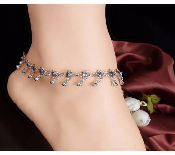 Flower Beads Tassel Anklet