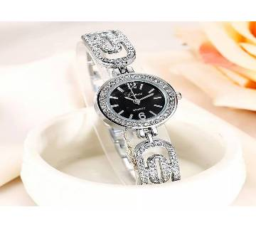 Bracelet Style Stone Setting Wristwatch for Women