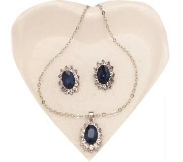 Blue Crystal Pendant sets
