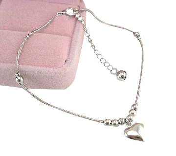 Heart shaped Pendant Anklet