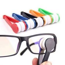 Two-side Sunglasses Brush Eyeglass Microfiber Spectacles Cleaner