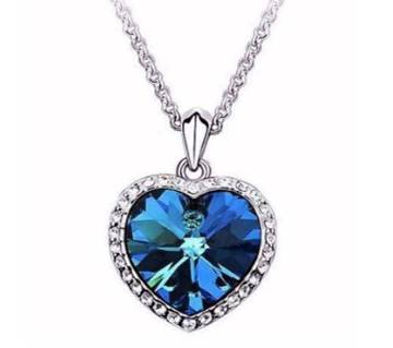 Titanic Heart of Ocean blue heart love forever pendant