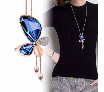 Butterfly Shaped Long Chain Locket