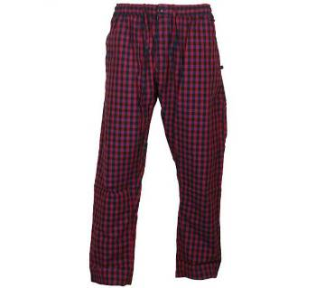 Menz Check Cotton Trousers