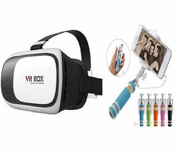 3D VR Box With Selfie Stick