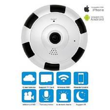 Panoramic Wifi IP P2P Night Vision Camera 360 Degree - White
