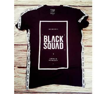 Black Squad রাউণ্ড নেক টি শার্ট ফর মেন