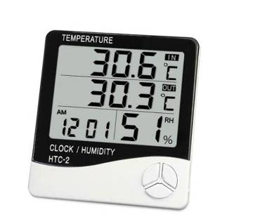 LCD Digital Alarm Clock Thermometer