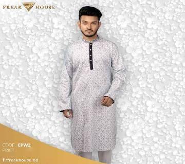 Menz Yarn Dye Cotton Long Panjabi