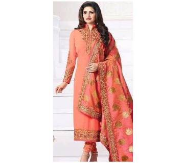 Unstiched Georgette Embroidery Three piece
