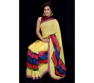 Cotton Silk Mixed Sharee with Blouse Piece