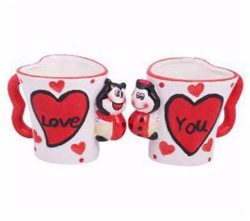 Love You couple inner mug