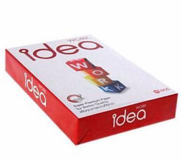 IDEA 80GSM A4 সাইজ পেপার (৫০০ শীট)