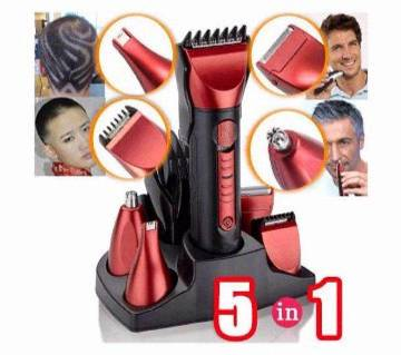 Kemei 5 in 1 Rechargeable Shaver & Trimmer