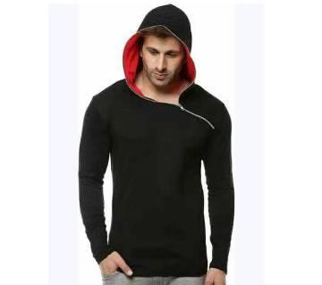 Gents full sleeve Black color hoodie