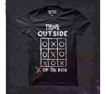 Think Outside of the Box Menz Round Neck T-Shirts