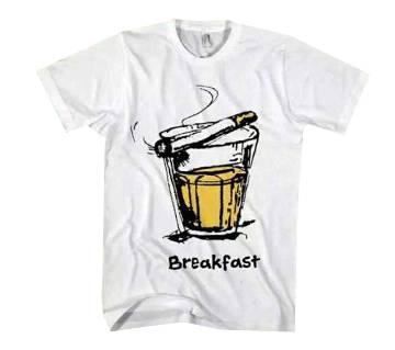 Breakfast মেনজ রাউন্ড নেক টি-শার্ট
