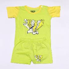 Babies Snoopy Print Dress Set