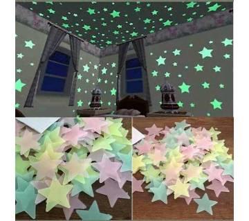 3cm Star Glow 100pcs Multicolor