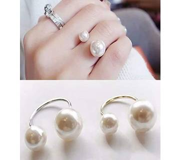 Pearl Adjustable Opening Finger Ring