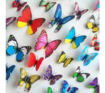 Baby room Butter Fly Wall Sticker Plastic Made 12pc
