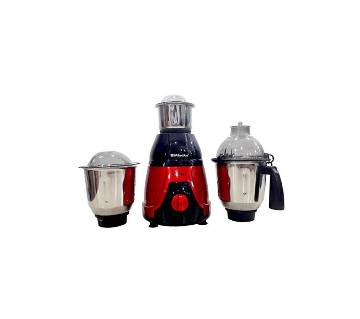 Miyako 3 In 1 Electric Blender - 750W - Red and Black
