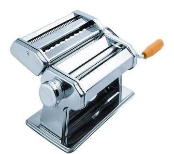 Hand pressing noodles- pasta maker