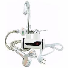 Hot water tap with shower head