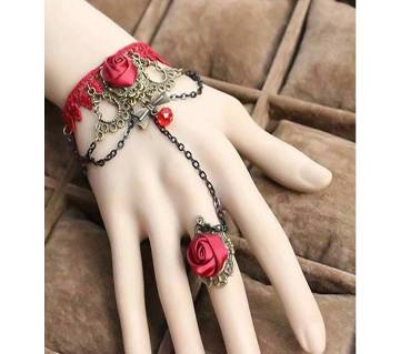 Red Rose ব্রেসলেট উইথ রিং
