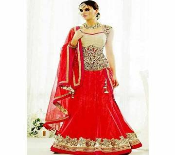 Semi Stitched Embroidery Georgette Lehenga - Copy